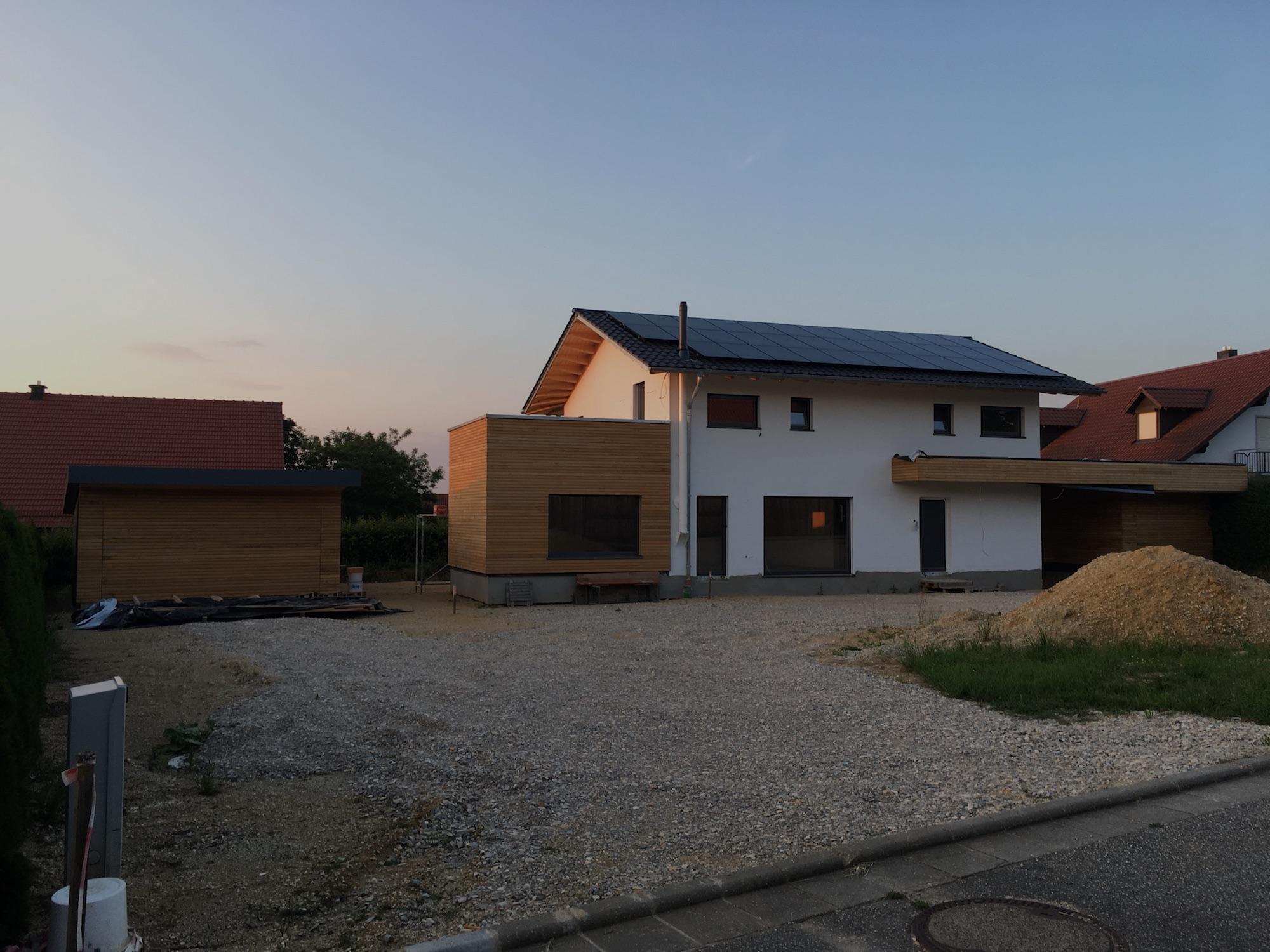 Rhombusleisten Fassade Beispiel