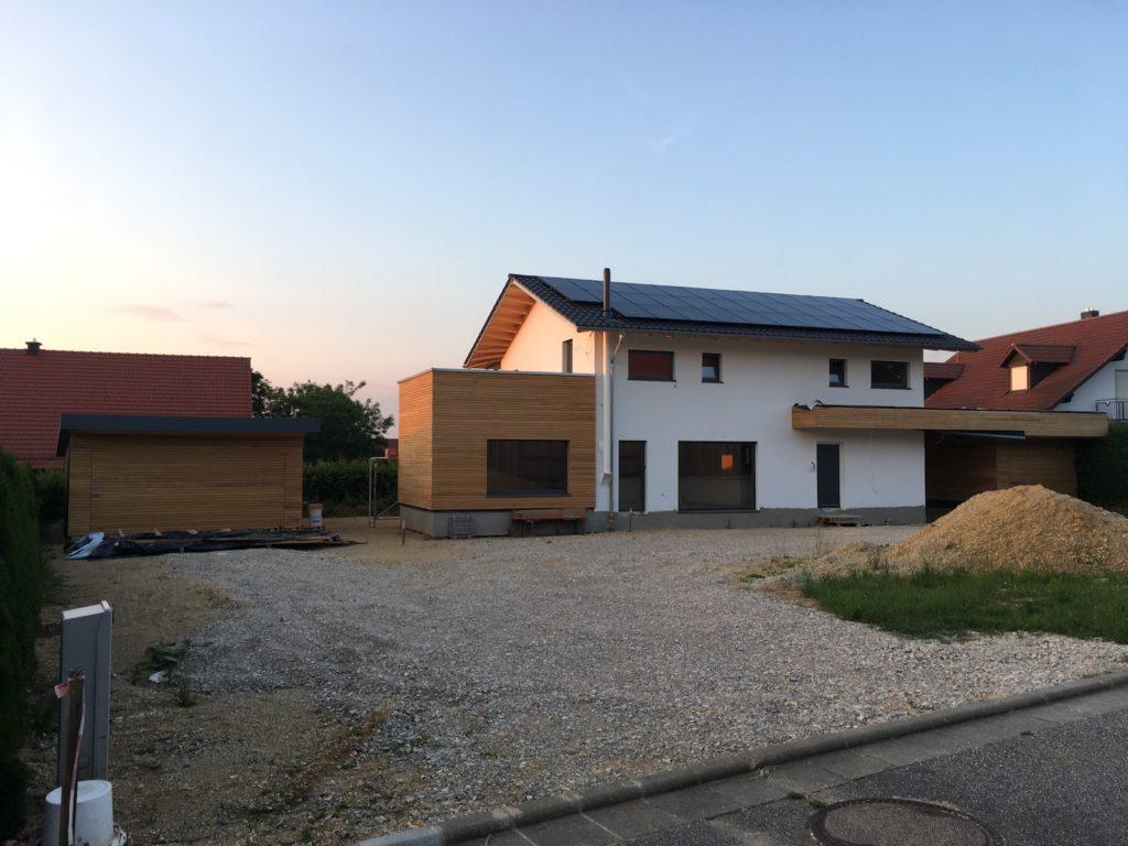 Fassade aus Rhombusleisten